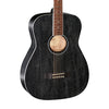 Cort AF590MF-BOP Acoustic Guitar w/Bag, Black Open Pore