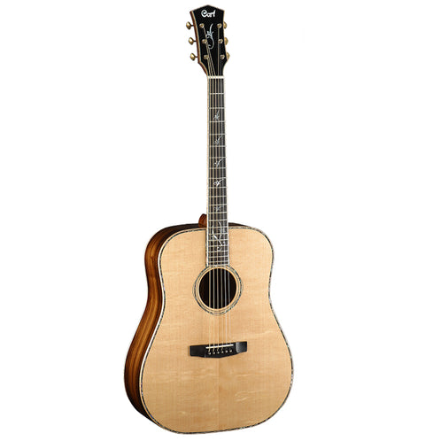 Cort Earth-LE2 MD Acoustic Guitar w/Case, Rosewood Neck, Natural