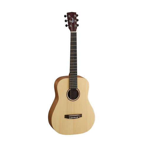 Cort Earth-Mini-OP Acoustic Guitar w/Bag, RW Neck, Open Pore