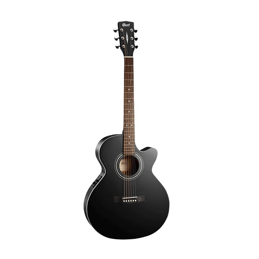 Cort SFX-ME-BKS Acoustic Guitars w/Bag, Black Satin