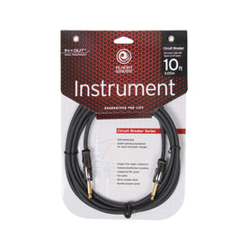 D'Addario Planet Waves PW-AG-10 10' Circuit Breaker Instrument Cable, Straight