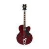 D'Angelico Premier EXL-1 Hollow-Body Electric Guitar w/Stairstep Tailpiece & Gigbag, Trans Wine