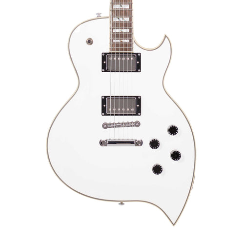 D'Angelico Premier TD Teardrop Electric Guitar w/Gig Bag, White