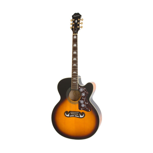 Epiphone EJ-200SCE Acoustic/Electric Guitar, Rosewood Neck, Vintage Sunburst