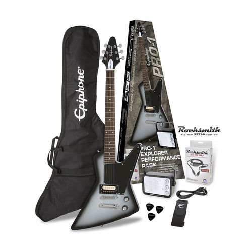 Epiphone PRO-1 Explorer Electric Guitar Package, Silverburst (B-Stock)