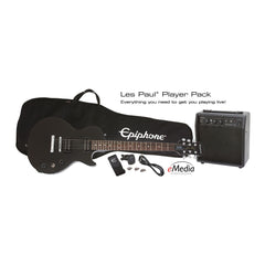 Epiphone Les Paul Special II Guitar Player Pack, Ebony, UK 240V