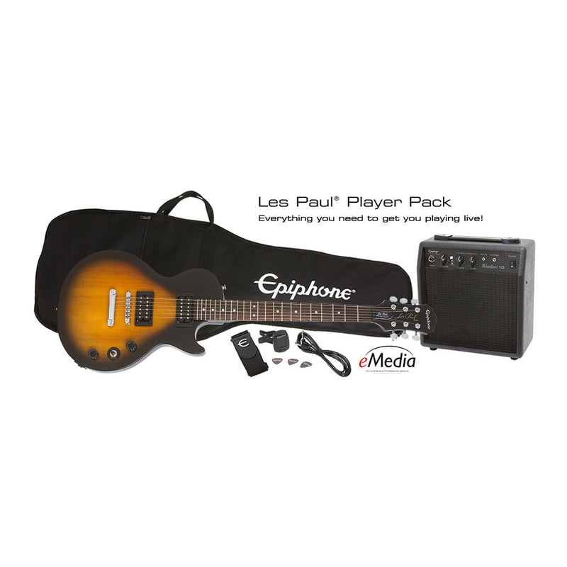 Epiphone Les Paul Special II Guitar Player Pack, Vintage Sunburst, UK 240V