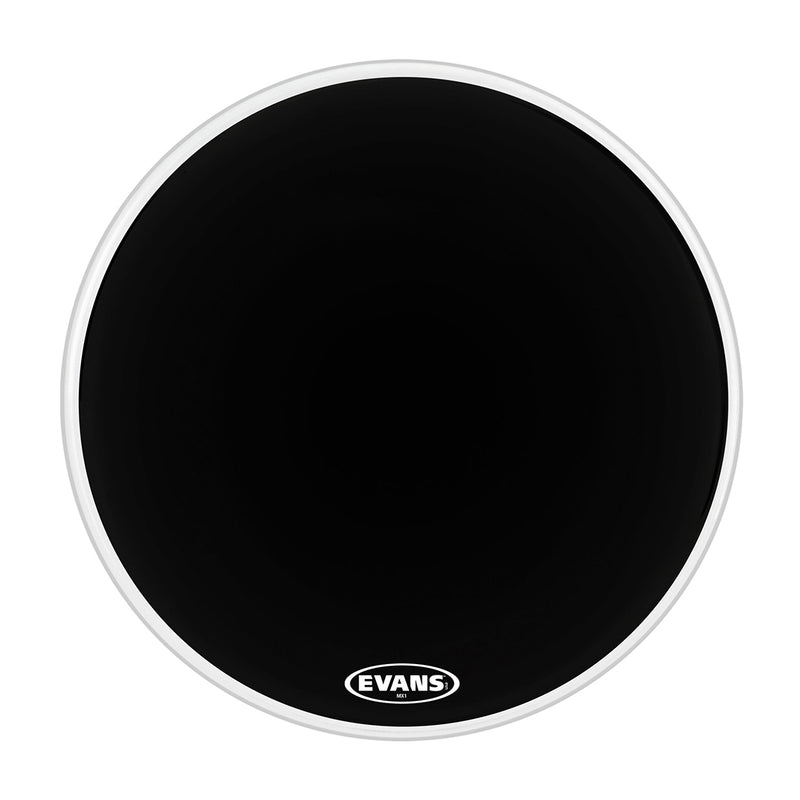 Evans BD20MX1B 20inch MX1 Black - Marching Bass