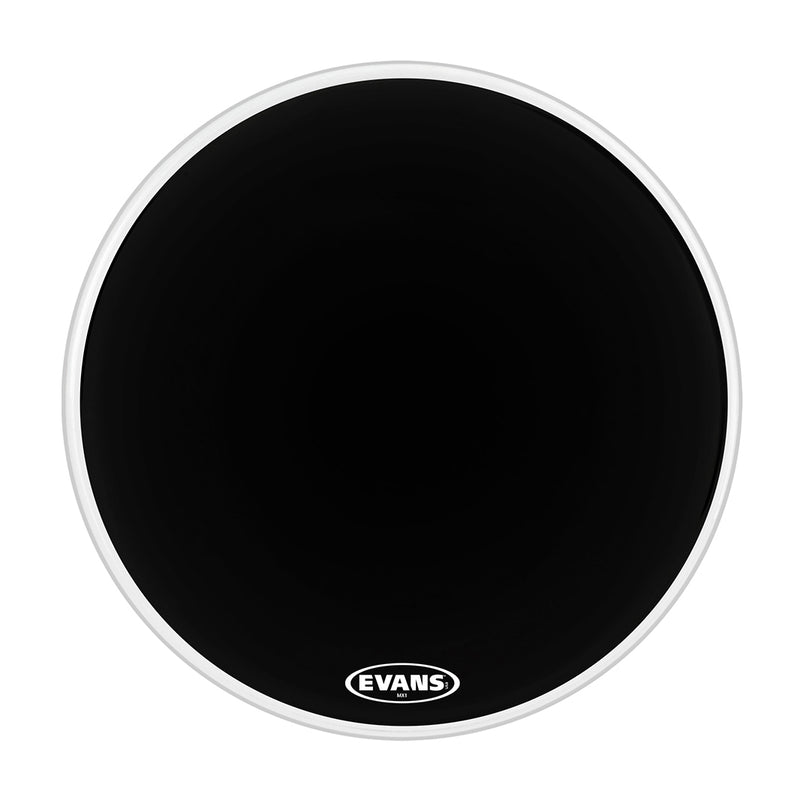 Evans BD24MX1B 24inch MX1 Black - Marching Bass