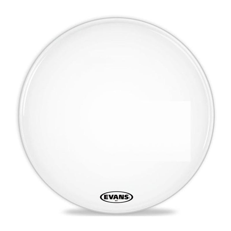 Evans BD24MX1W 24inch MX1 White - Marching Bass