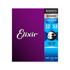 Elixir 11050 Polyweb 80/20 Bronze Acoustic Guitar Strings 12-53