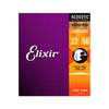 Elixir 16077 Nanoweb Phosphor Bronze Acoustic Guitar Strings 12-56