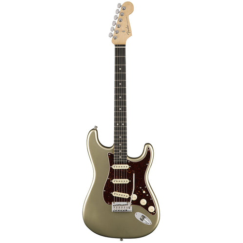 Fender American Elite Stratocaster Electric Guitar, Ebony FB, Champagne