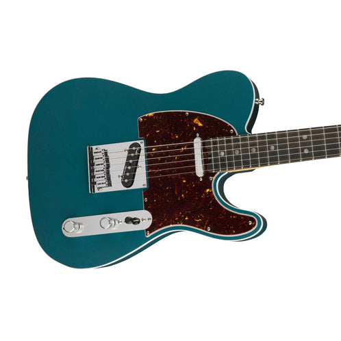 Fender American Elite Telecaster Electric Guitar, Ebony FB, Ocean Turquoise