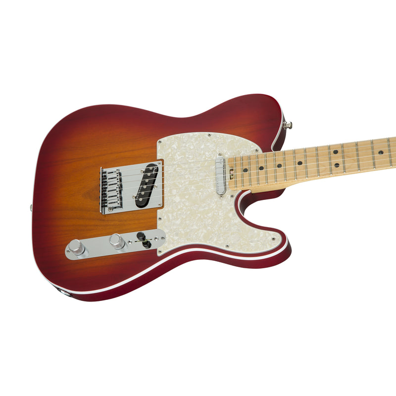 Fender American Elite Telecaster Electric Guitar, Maple FB, Aged Cherry Burst