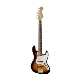 Squier Affinity 5-String Jazz Bass Guitar, Laurel FB, Brown Sunburst