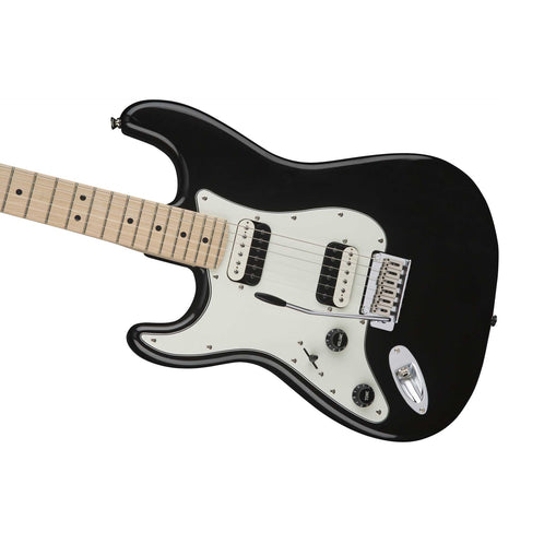 Squier Contemporary HH Stratocaster Left-Handed Electric Guitar, Maple FB, Black Metallic
