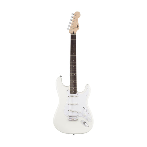 Squier Bullet Stratocaster Hardtail Electric Guitar, Laurel FB, Arctic White (B-Stock)