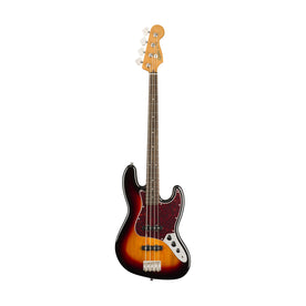Squier Classic Vibe 60s Jazz Bass Guitar, Laurel FB, 3-Tone Sunburst