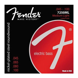 Fender 7250ML Nickel Plated Steel Roundwound 45-100 Long Scale Bass Guitar Strings