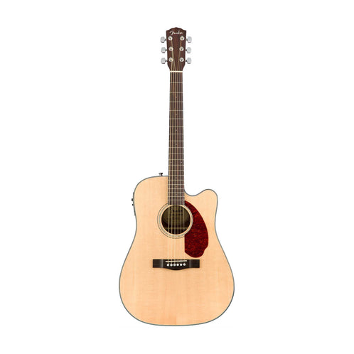 Fender CD-140SCE Dreadnought Acoustic Guitar w/Cutaway & Electronics & Case, Natural (B-Stock)