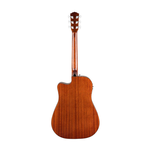 Fender CD-140SCE Dreadnought Acoustic Guitar w/Cutaway & Electronics & Case, All Mahogany (B-Stock)