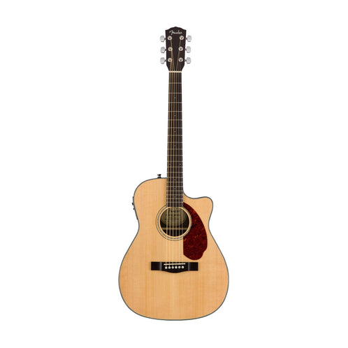 Fender CC-140SCE Concert Acoustic Guitar w/Cutaway & Electronics & Case, Natural