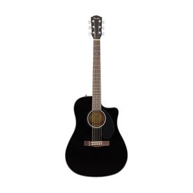 Fender CD-60SCE Dreadnought Acoustic Guitar, Walnut FB, Black