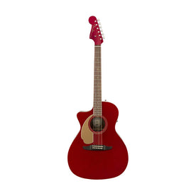 Fender Newporter Player Left-Handed Acoustic Guitar, Candy Apple Red