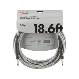 Fender Professional Series Instrument Cable, 18.6ft, White Tweed