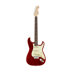 Fender Japan Aerodyne Classic FMT Stratocaster Electric Guitar, RW FB, Crimson Red Transparent