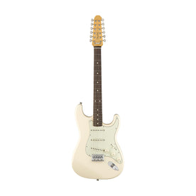 Fender Japan FSR Traditional Stratocaster XII Electric Guitar, Olympic White