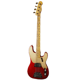Fender Custom Shop Ltd Ed 1951 Relic 4-String Precision Bass w/Case, Candy Apple Red