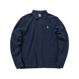 Chums Booby Longsleeves Polo Shirt, H/Navy