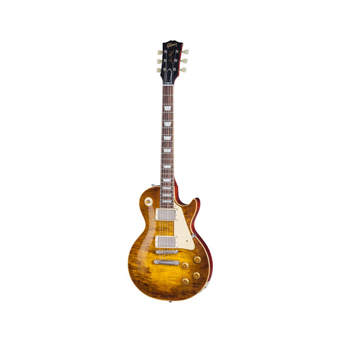 Gibson Custom Limited Run Les Paul Standard 'Rock Top' Electric Guitar w/Case, Fossilized Flame