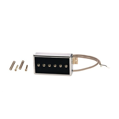 Gibson IMP4T-BS P-94T Humbucker Sized P-90 Single Coil Black Pickup with Silver Cover