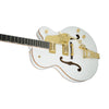 Gretsch G6136T-WHT Players Edition White Falcon w/String-Thru Bigsby Electric Guitar w/Case