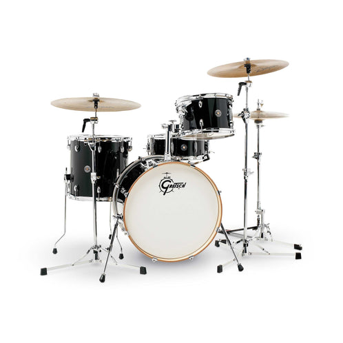 Gretsch CT1-J404-PB CAT Catalina Club 4-Piece Drum Shell Kit Set(20inch Bass), Piano Black
