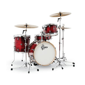 Gretsch CT1-J484-GCB Catalina Club 4-Piece Drum Shell Kit Set(18inch Bass), Gloss Crimson Burst