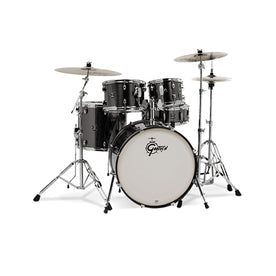 Gretsch GE4E825G Energy 5-Piece Drum Kit w/Hardware(22inch BD), No Cymbals, Brushed Grey