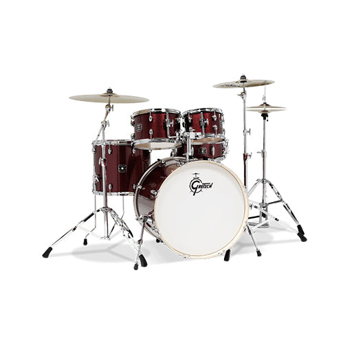 Gretsch GE4E825R Energy 5-Piece Drum Kit w/Hardware(22inch BD), No Cymbals, Red