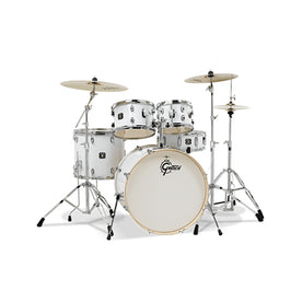 Gretsch GE4E825W Energy 5-Piece Drum Kit w/Hardware(22inch BD), No Cymbals, White