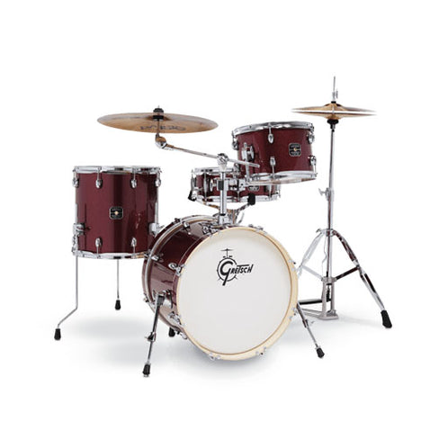 Gretsch GE4S484-RS Energy 4-Piece Street Kit w/Hardware (18inch Bass), No Cymbals, Ruby Red Sparkle