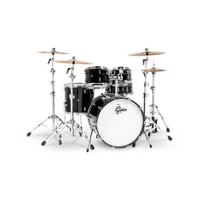 Gretsch RN2-E825-PB Renown Maple 5-Piece Drum Shell Kit Set (22inch Bass), Piano Black