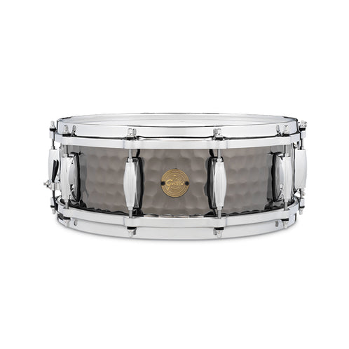 Gretsch S1-0514-BSH 5x14inch Hammered Black Steel Snare Drum