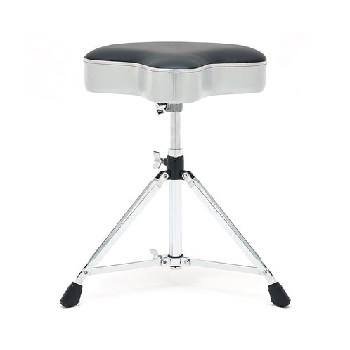 Gibraltar 6608MSG Motocycle Style Vinyl Seat Drum Throne, Grey Silver