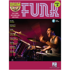 Hal Leonard Drum Play-Along Funk Volume 5 Book with CD