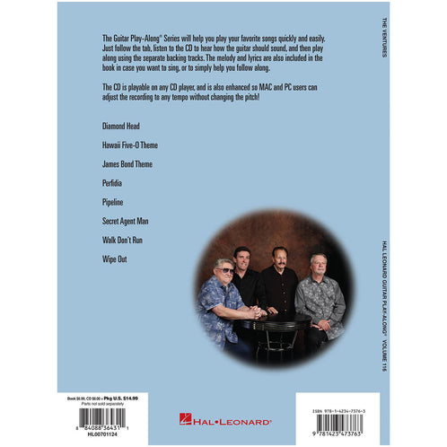 Hal Leonard Guitar Play-Along The Ventures Volume 116 Book with CD ...