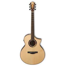 Ibanez AEW51-NT AEW Multi Wood Mosaic Acoustic Guitar, Natural High Gloss