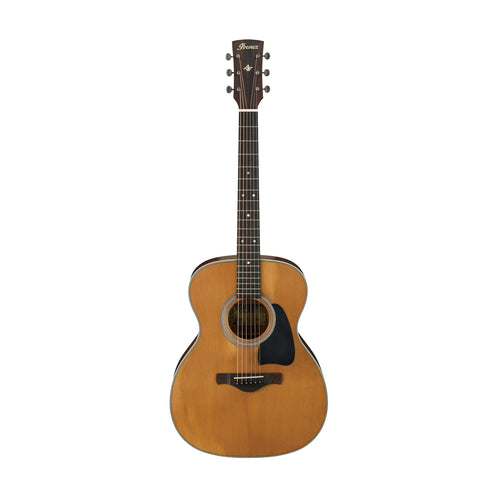 Ibanez AVC11-ANS Artwood Vintage Thermo Aged Acoustic Guitar, Antique Natural Semi-Gloss